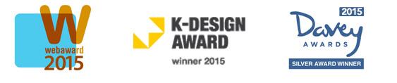 Web Award 2015 Silver, K-Design Award 2015, Davey Award 2015